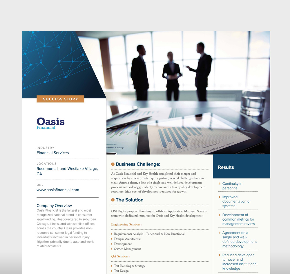 Success Story: Oasis Financial | Financial Services | OSI Digital