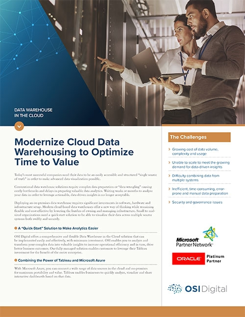 Data Warehouse in the Cloud